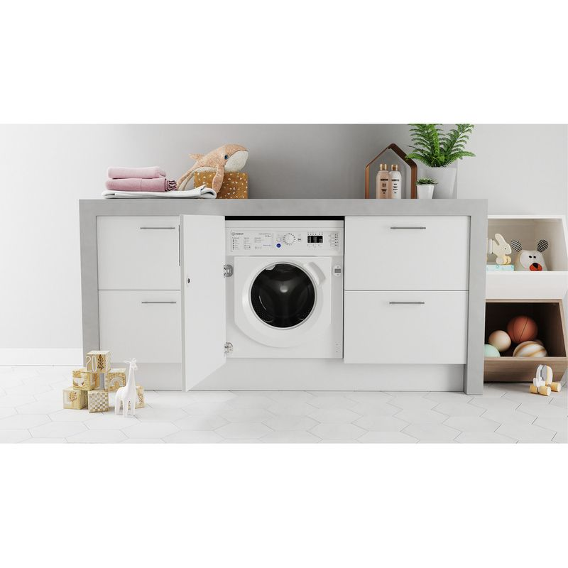 Indesit-Washer-dryer-Built-in-BI-WDIL-861284-UK-White-Front-loader-Lifestyle-frontal