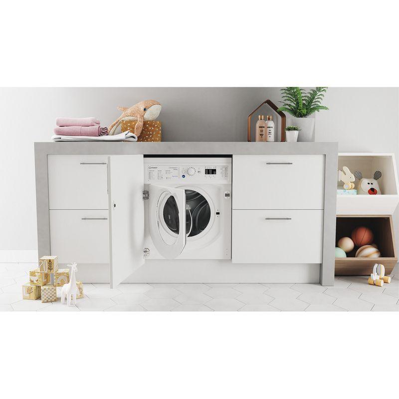 Indesit-Washer-dryer-Built-in-BI-WDIL-861284-UK-White-Front-loader-Lifestyle-frontal-open