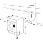 Indesit-Washer-dryer-Built-in-BI-WDIL-861284-UK-White-Front-loader-Technical-drawing