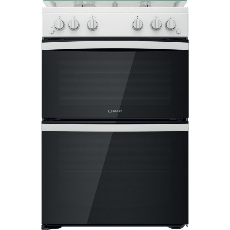 Indesit-Double-Cooker-ID67G0MCW-UK-White-A--Frontal
