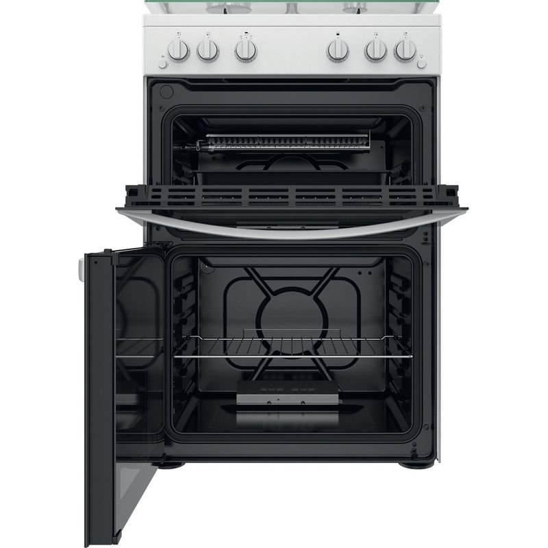 Indesit-Double-Cooker-ID67G0MCW-UK-White-A--Frontal-open