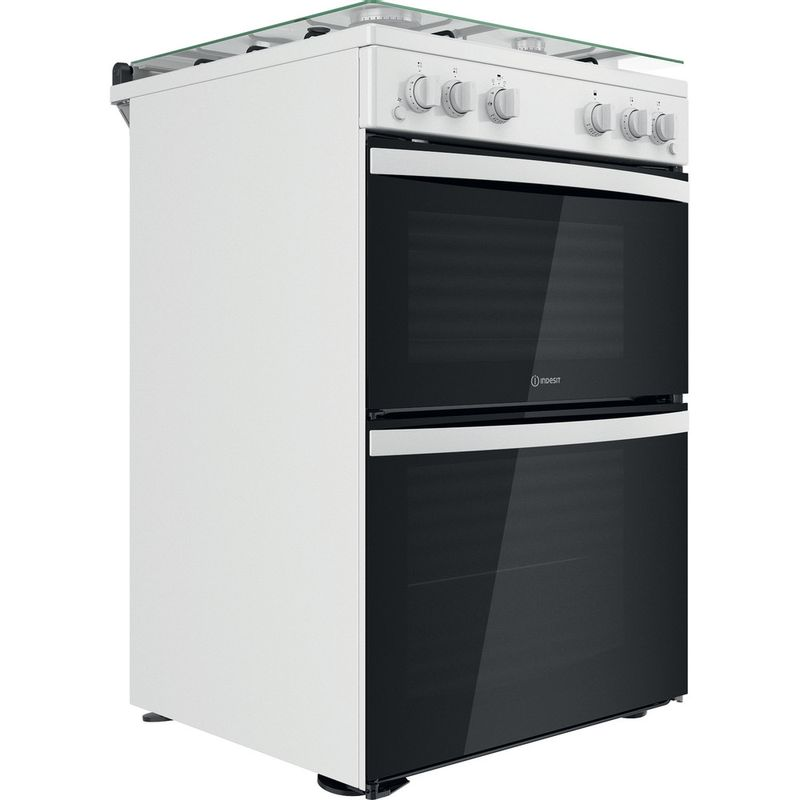 Indesit-Double-Cooker-ID67G0MCW-UK-White-A--Perspective