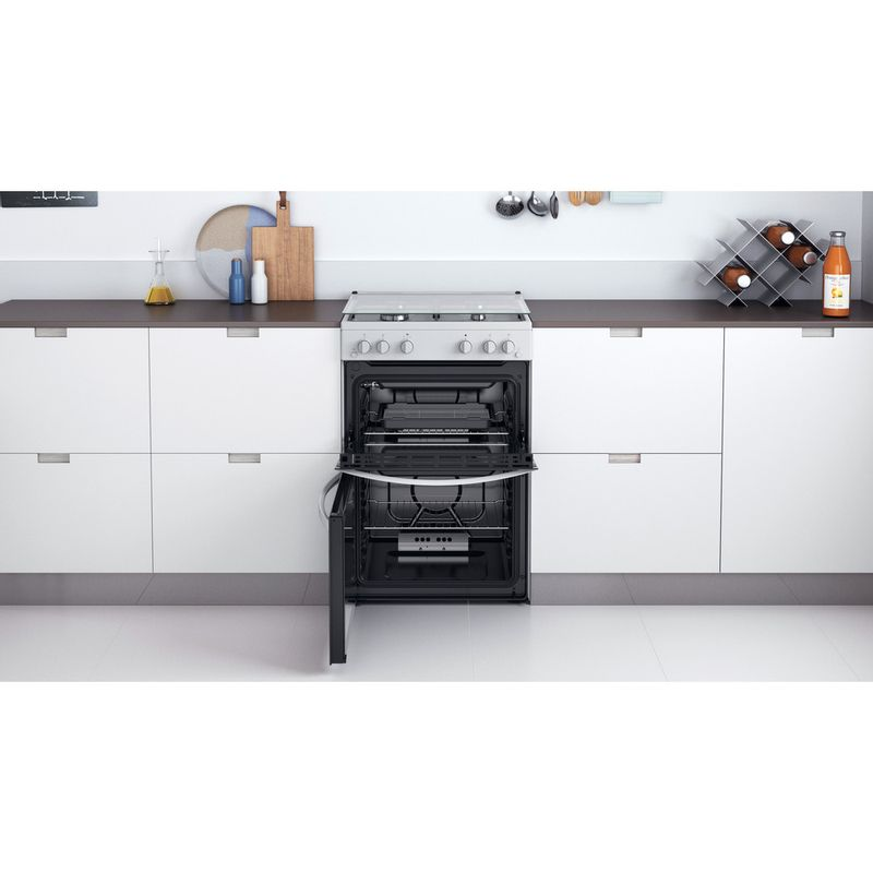 Indesit-Double-Cooker-ID67G0MCW-UK-White-A--Lifestyle-frontal-open