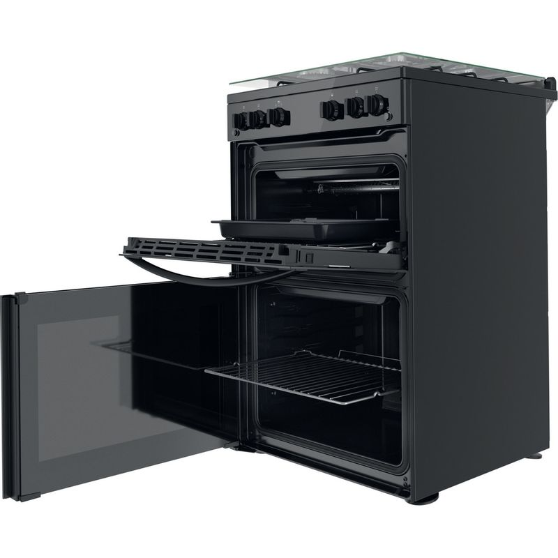 Indesit-Double-Cooker-ID67G0MMB-UK-Black-A--Perspective-open