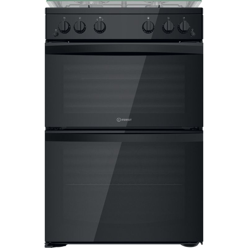 Indesit-Double-Cooker-ID67G0MMB-UK-Black-A--Frontal