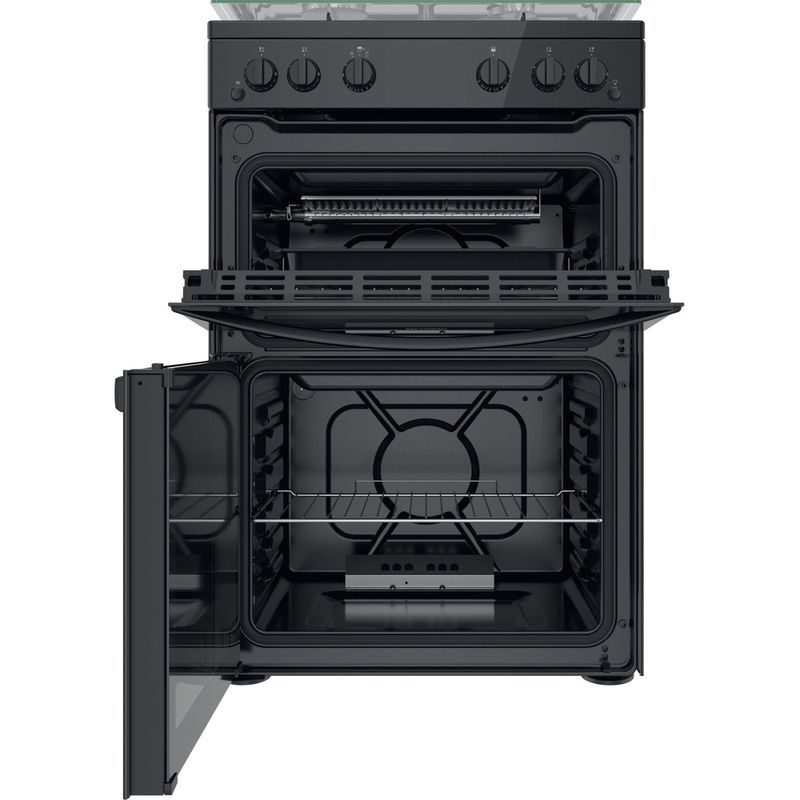 Indesit-Double-Cooker-ID67G0MMB-UK-Black-A--Frontal-open