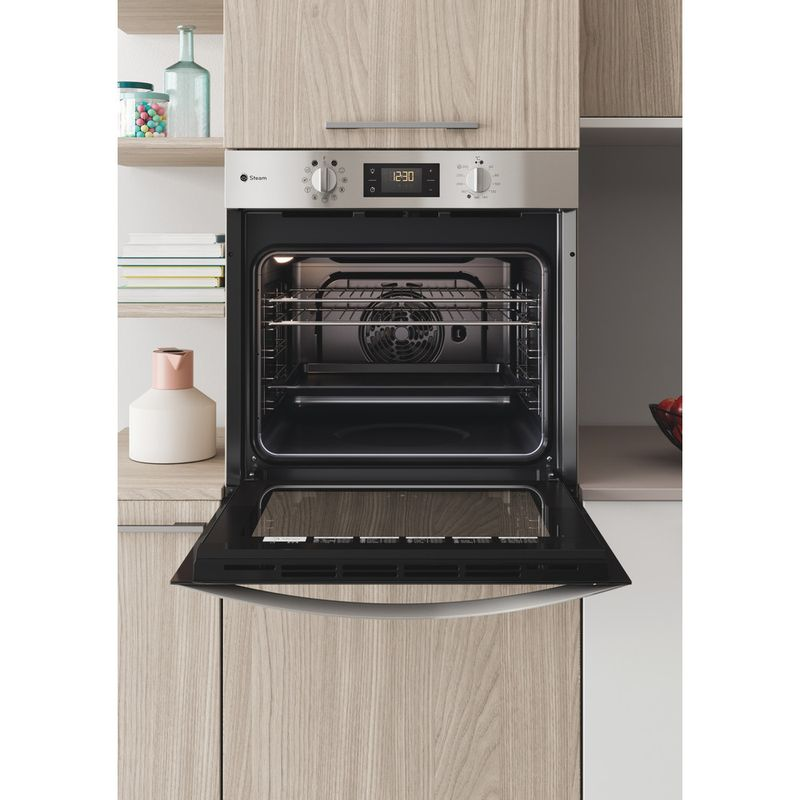 Indesit-OVEN-Built-in-KFWS-3844-H-IX-UK-Electric-A--Lifestyle-frontal-open