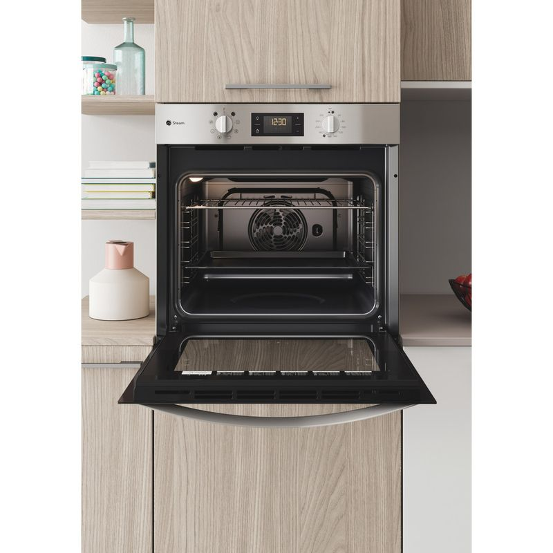 Indesit-OVEN-Built-in-DFWS-5544-C-IX-UK-Electric-A-Lifestyle-frontal-open