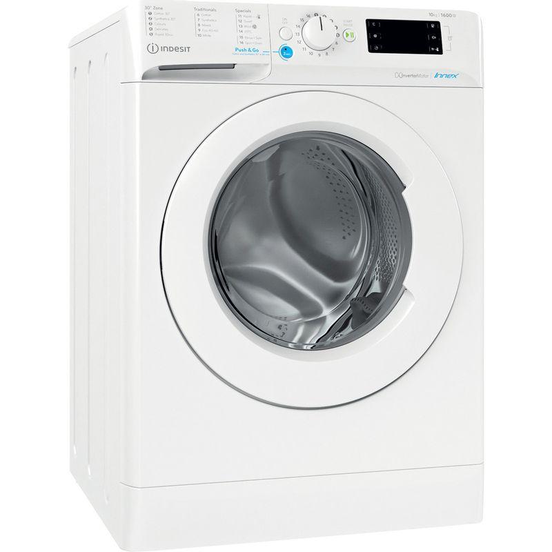 Indesit-Washing-machine-Free-standing-BWE-101683X-W-UK-N-White-Front-loader-D-Perspective