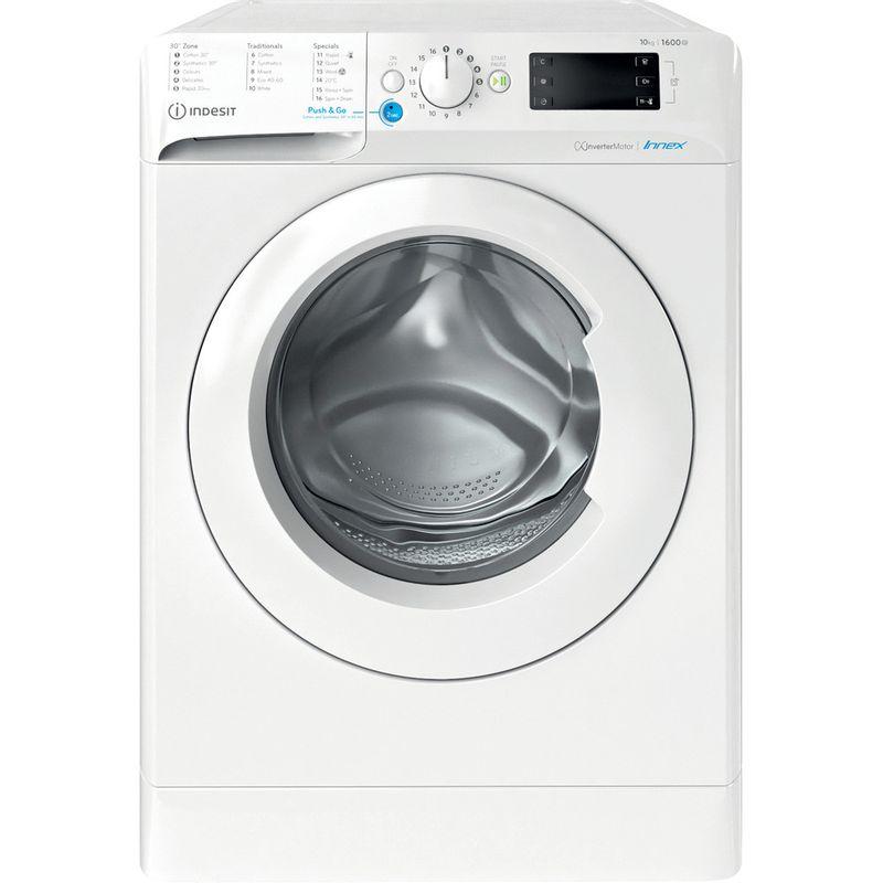 Indesit-Washing-machine-Free-standing-BWE-101683X-W-UK-N-White-Front-loader-D-Frontal