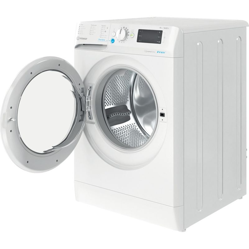 Indesit-Washing-machine-Free-standing-BWE-101683X-W-UK-N-White-Front-loader-D-Perspective-open