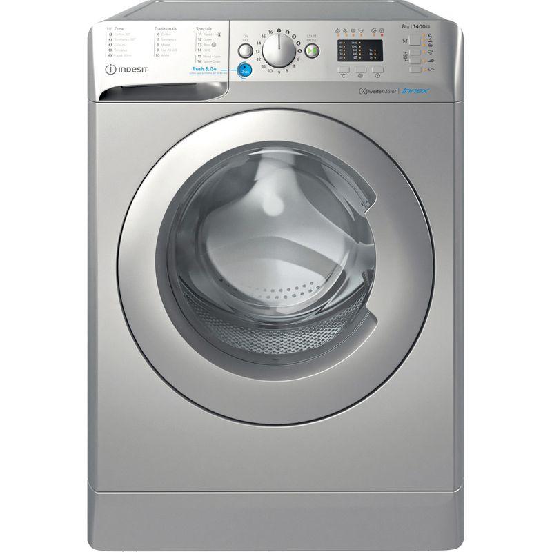Indesit-Washing-machine-Free-standing-BWA-81483X-S-UK-N-Silver-Front-loader-D-Frontal