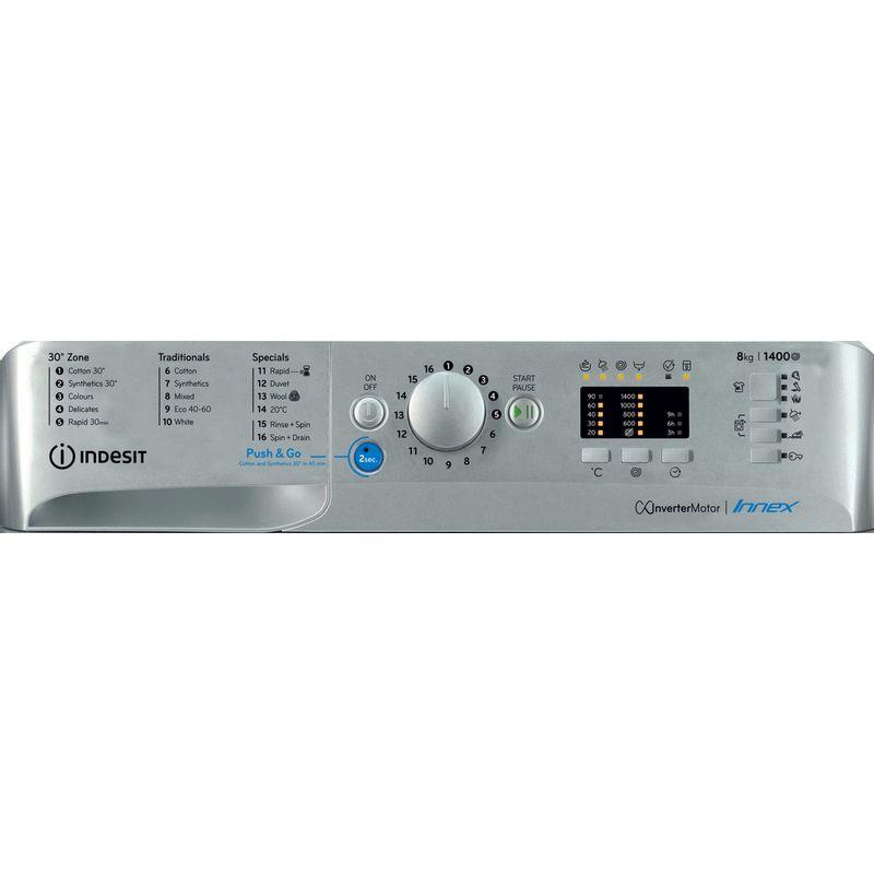 Indesit-Washing-machine-Free-standing-BWA-81483X-S-UK-N-Silver-Front-loader-D-Control-panel