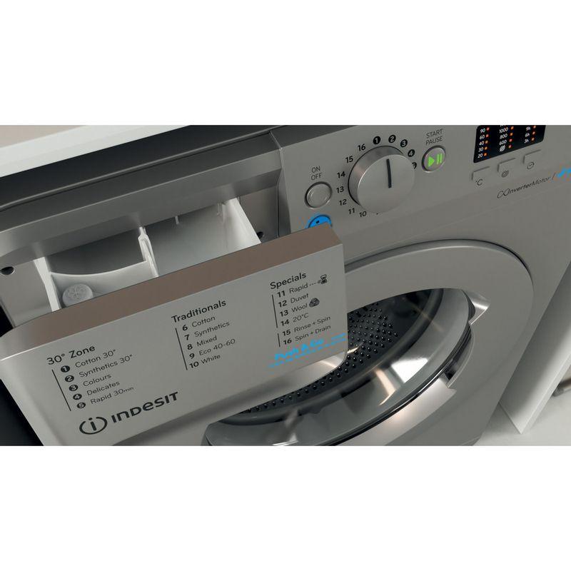 Indesit-Washing-machine-Free-standing-BWA-81483X-S-UK-N-Silver-Front-loader-D-Drawer