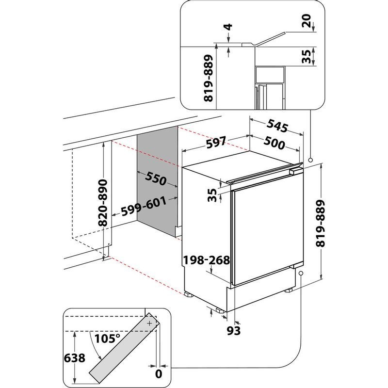 Indesit-Refrigerator-Built-in-IF-A1.UK-1-Steel-Technical-drawing