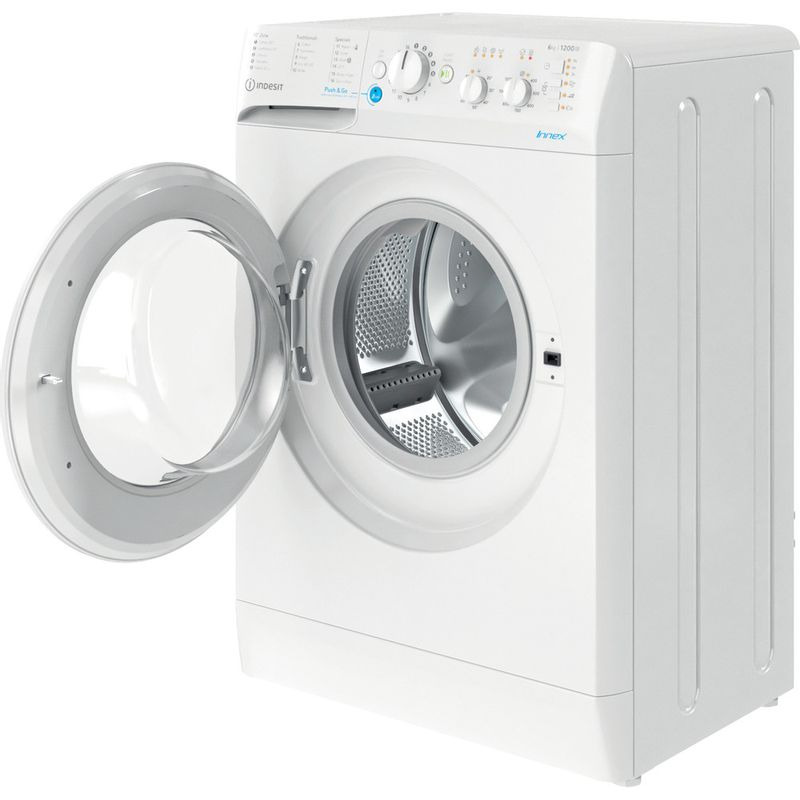Indesit-Washing-machine-Free-standing-BWSC-61251-XW-UK-N-White-Front-loader-F-Perspective-open