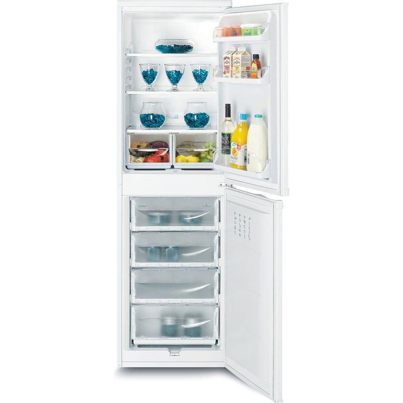 Indesit-Fridge-Freezer-Free-standing-IBD-5517-W-UK-1-White-2-doors-Frontal-open