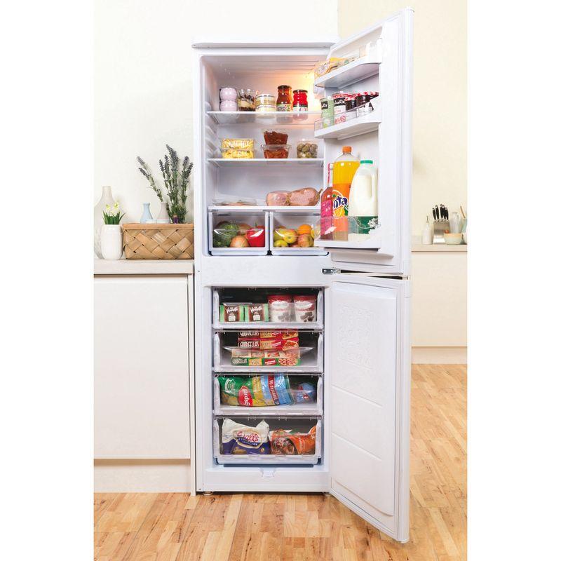 Indesit-Fridge-Freezer-Free-standing-IBD-5517-W-UK-1-White-2-doors-Lifestyle-frontal-open