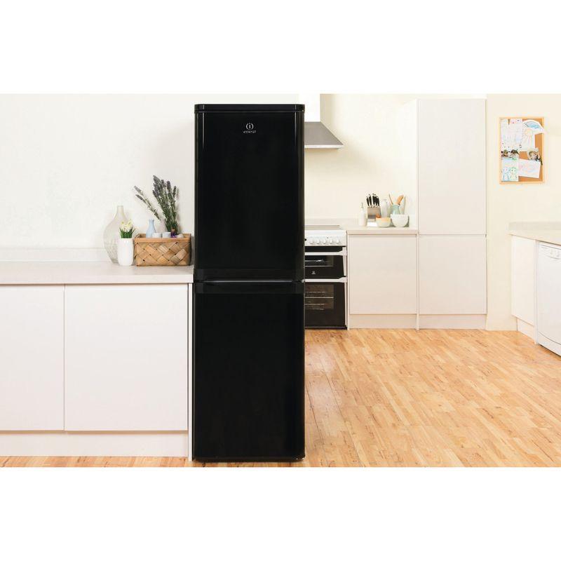 Indesit-Fridge-Freezer-Free-standing-IBD-5517-B-UK-1-Black-2-doors-Lifestyle-frontal