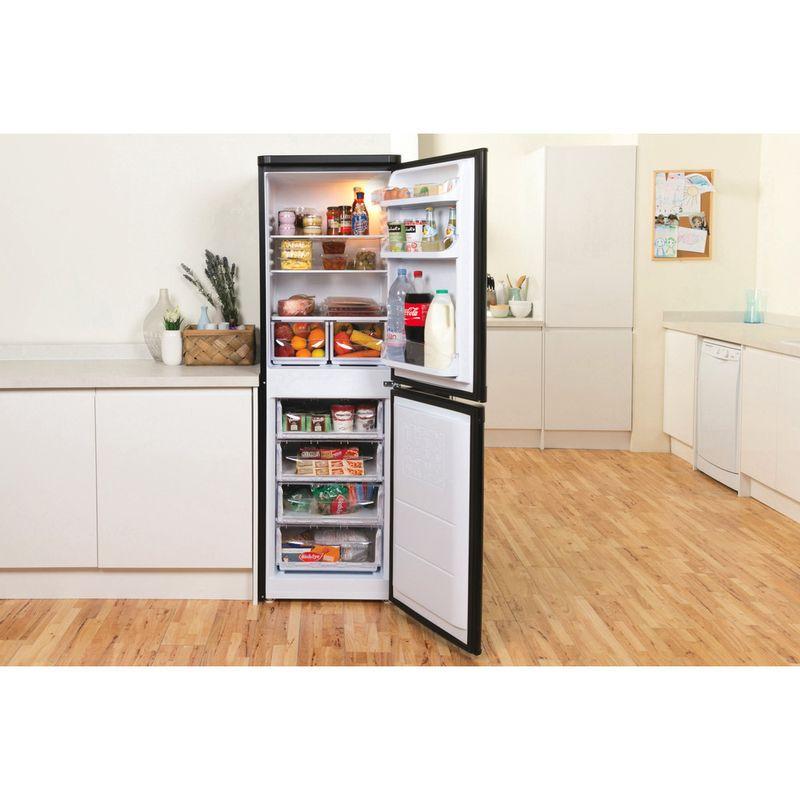Indesit-Fridge-Freezer-Free-standing-IBD-5517-B-UK-1-Black-2-doors-Lifestyle-frontal-open