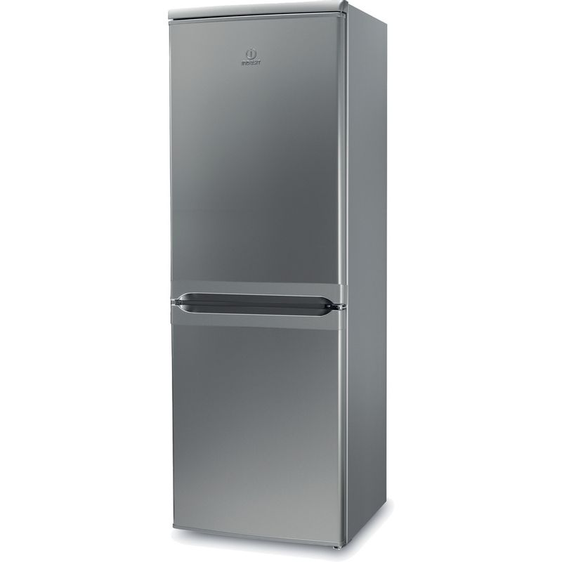 Indesit-Fridge-Freezer-Free-standing-IBD-5515-S-1-Silver-2-doors-Perspective