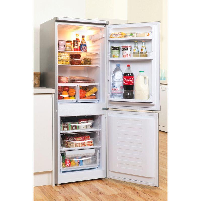 Indesit-Fridge-Freezer-Free-standing-IBD-5515-S-1-Silver-2-doors-Lifestyle-perspective-open