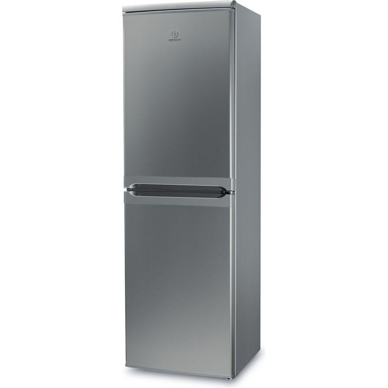 Indesit-Fridge-Freezer-Free-standing-IBD-5517-S-UK-1-Silver-2-doors-Perspective
