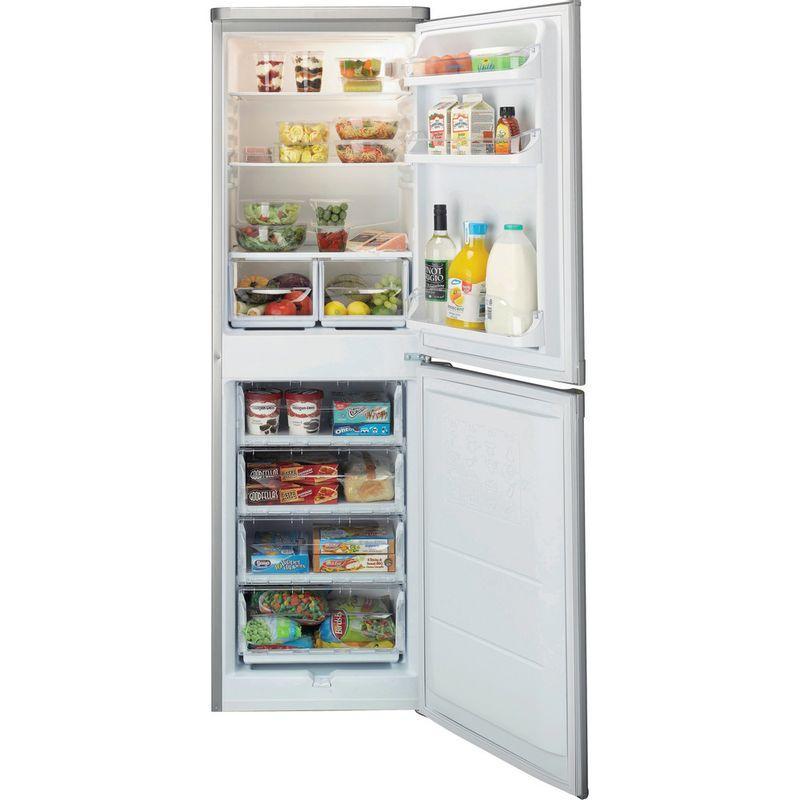 Indesit-Fridge-Freezer-Free-standing-IBD-5517-S-UK-1-Silver-2-doors-Frontal-open