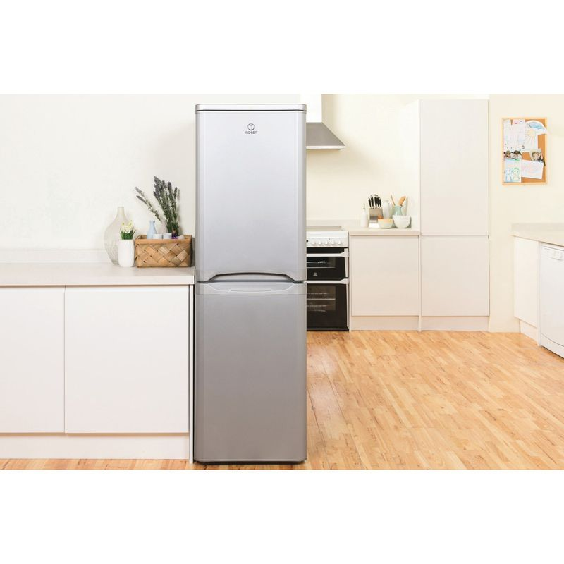 Indesit-Fridge-Freezer-Free-standing-IBD-5517-S-UK-1-Silver-2-doors-Lifestyle-frontal
