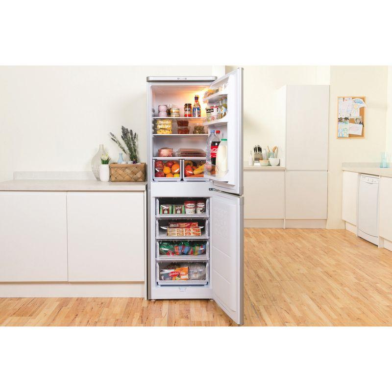 Indesit-Fridge-Freezer-Free-standing-IBD-5517-S-UK-1-Silver-2-doors-Lifestyle-frontal-open