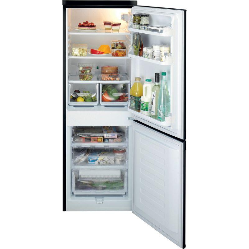 Indesit-Fridge-Freezer-Free-standing-IBD-5515-B-1-Black-2-doors-Frontal-open
