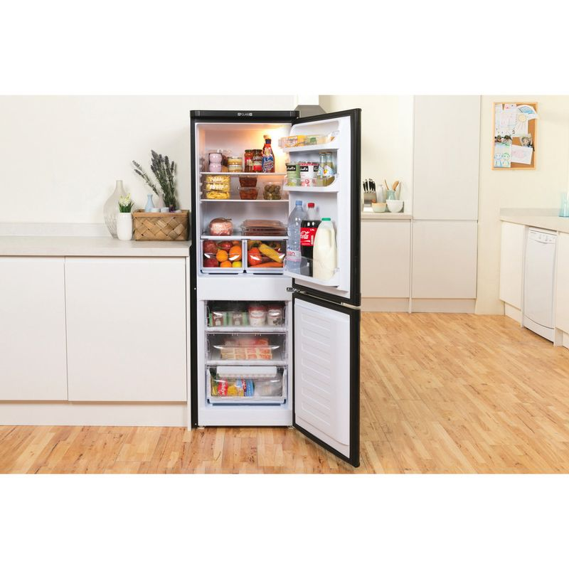Indesit-Fridge-Freezer-Free-standing-IBD-5515-B-1-Black-2-doors-Lifestyle-frontal-open