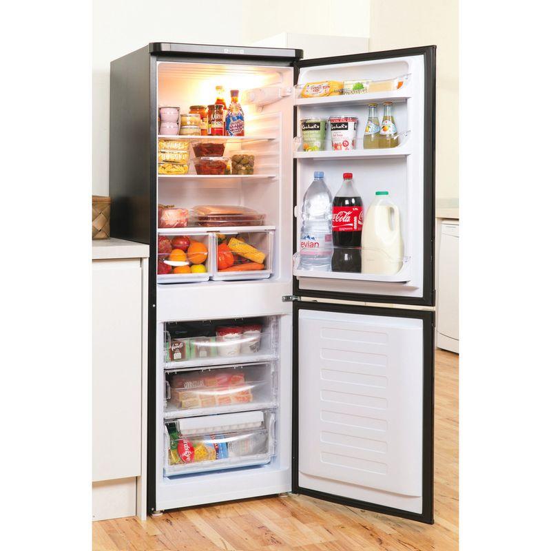 Indesit-Fridge-Freezer-Free-standing-IBD-5515-B-1-Black-2-doors-Lifestyle-perspective-open