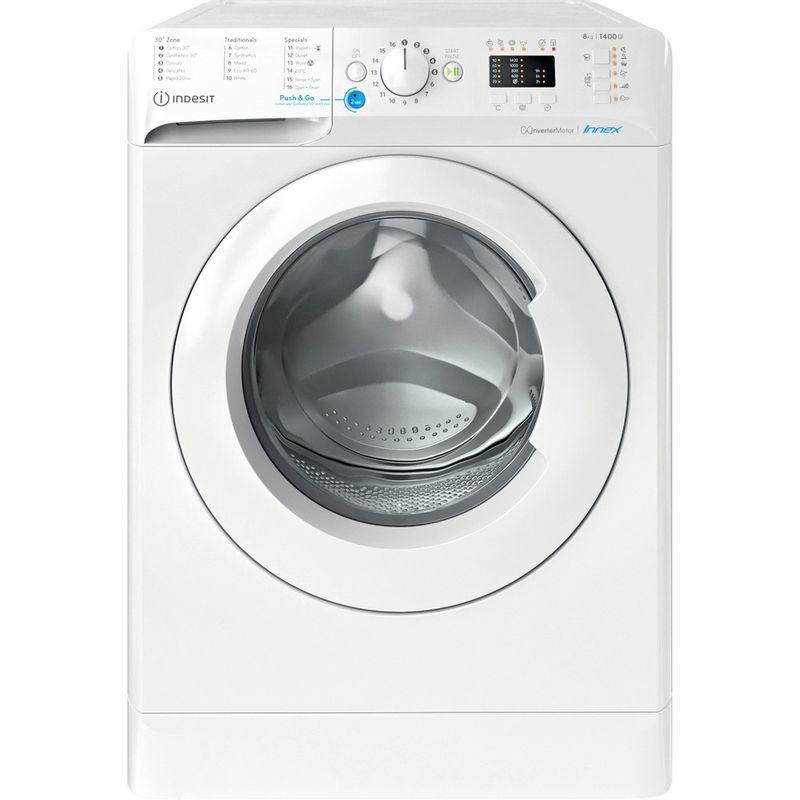 Indesit-Washing-machine-Free-standing-BWA-81484X-W-UK-N-White-Front-loader-C-Frontal