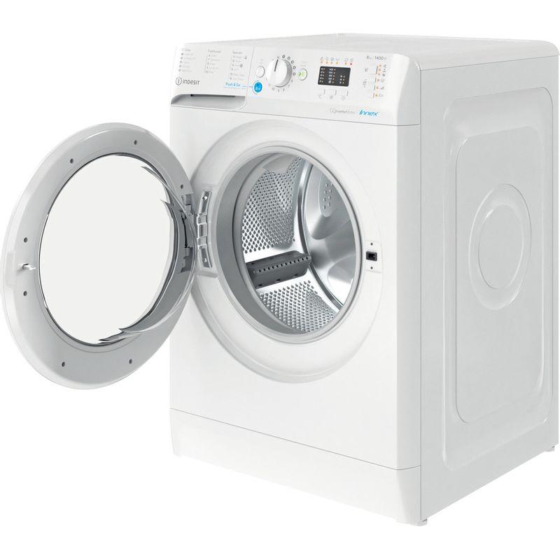 Indesit-Washing-machine-Free-standing-BWA-81484X-W-UK-N-White-Front-loader-C-Perspective-open