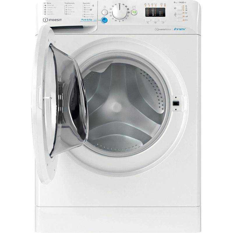 Indesit-Washing-machine-Free-standing-BWA-81484X-W-UK-N-White-Front-loader-C-Frontal-open
