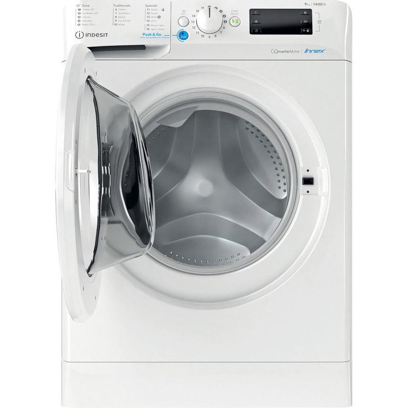Indesit-Washing-machine-Free-standing-BWE-91484X-W-UK-N-White-Front-loader-C-Frontal-open