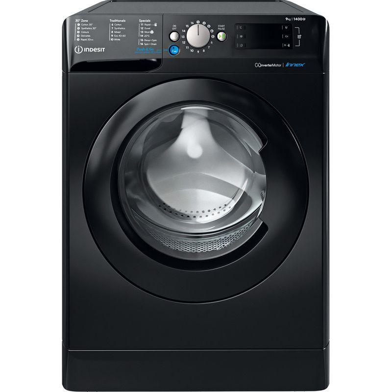 Indesit-Washing-machine-Free-standing-BWE-91483X-K-UK-N-Black-Front-loader-D-Frontal