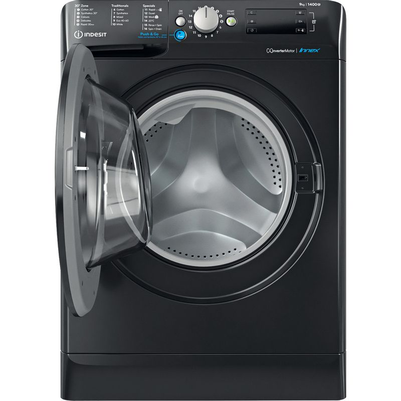 Indesit-Washing-machine-Free-standing-BWE-91483X-K-UK-N-Black-Front-loader-D-Frontal-open