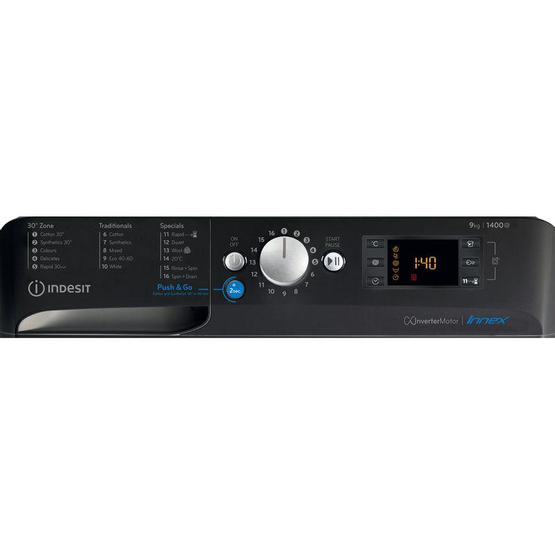 Indesit-Washing-machine-Free-standing-BWE-91483X-K-UK-N-Black-Front-loader-D-Control-panel