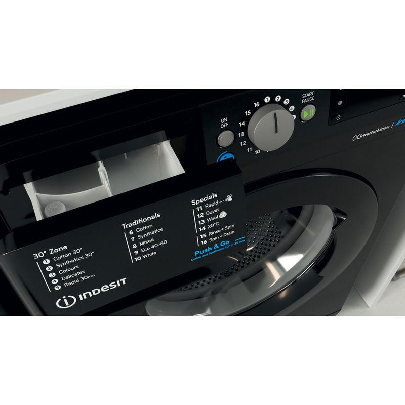 Indesit-Washing-machine-Free-standing-BWE-91483X-K-UK-N-Black-Front-loader-D-Drawer