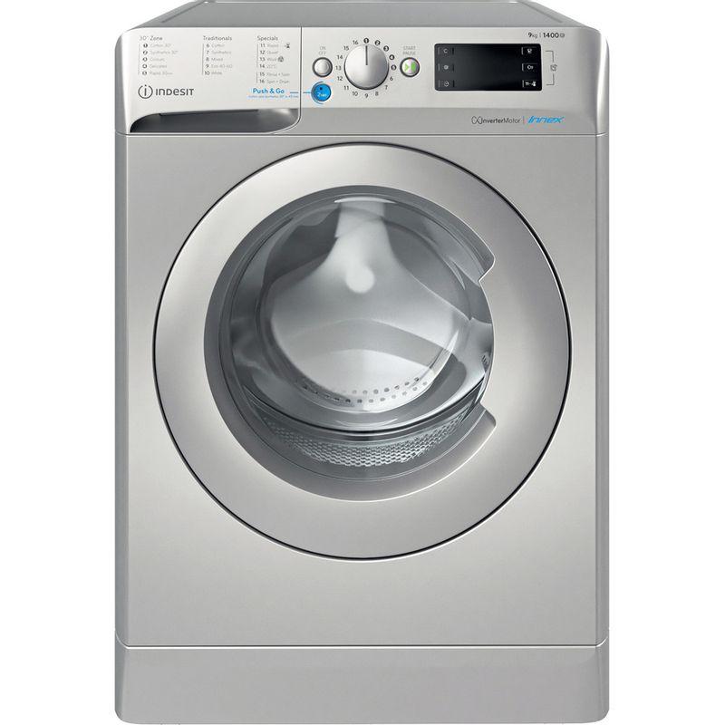 Indesit-Washing-machine-Free-standing-BWE-91483X-S-UK-N-Silver-Front-loader-D-Frontal