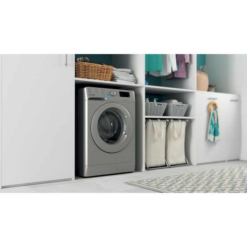 Indesit-Washing-machine-Free-standing-BWE-91483X-S-UK-N-Silver-Front-loader-D-Lifestyle-perspective