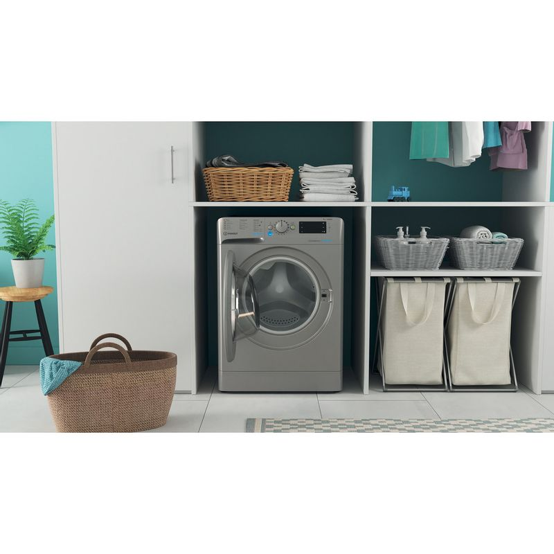 Indesit-Washing-machine-Free-standing-BWE-91483X-S-UK-N-Silver-Front-loader-D-Lifestyle-frontal-open