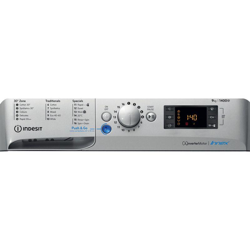 Indesit-Washing-machine-Free-standing-BWE-91483X-S-UK-N-Silver-Front-loader-D-Control-panel