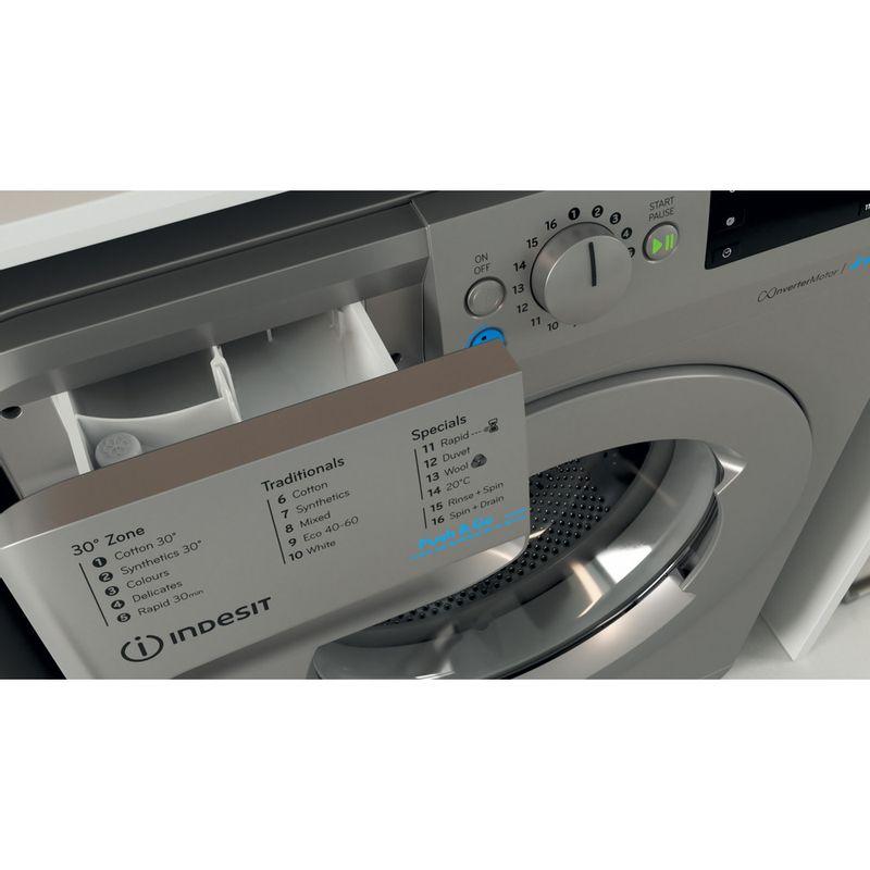 Indesit-Washing-machine-Free-standing-BWE-91483X-S-UK-N-Silver-Front-loader-D-Drawer