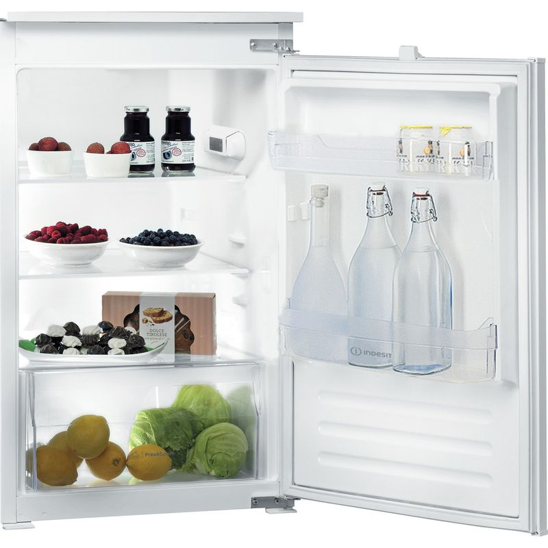 Indesit-Refrigerator-Built-in-INS-9011-Steel-Perspective-open