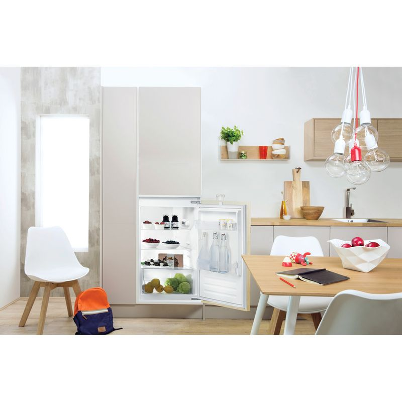 Indesit-Refrigerator-Built-in-INS-9011-Steel-Lifestyle-frontal-open