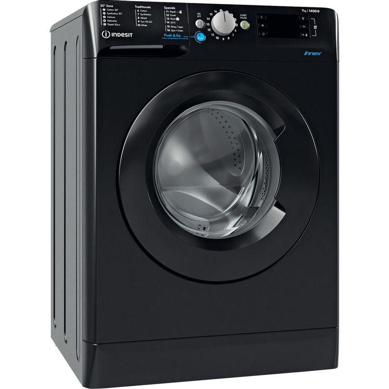 Indesit-Washing-machine-Free-standing-BWE-71452-K-UK-N-Black-Front-loader-E-Perspective