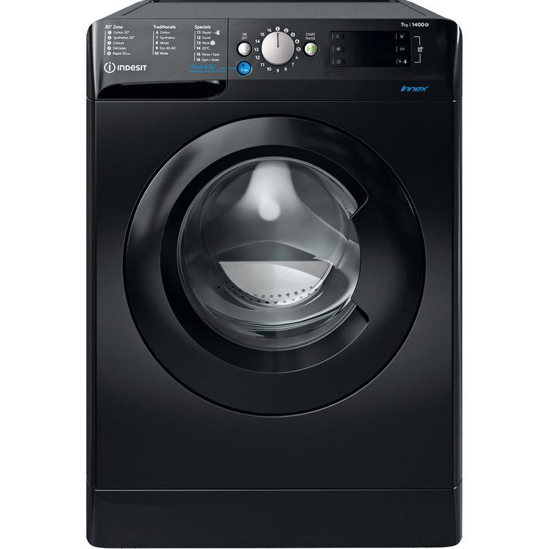 Indesit-Washing-machine-Free-standing-BWE-71452-K-UK-N-Black-Front-loader-E-Frontal